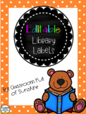 {EDITABLE} Library Labels