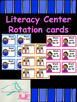 ***EDITABLE*** Literacy Center Rotation Cards