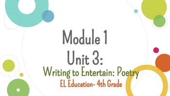 *EDITABLE* MODULE 1 (BUNDLE) EL EDUCATION GRADE 4