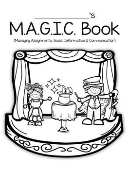EDITABLE Magic Binder for Student Organization- Ink Friendly!