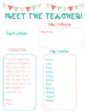 *EDITABLE* Meet the Teacher newsletter in English & Spanish!