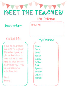 *EDITABLE* Meet the Teacher newsletter in English & Spanish!