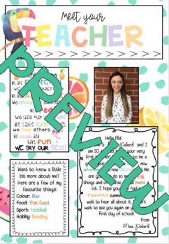 *EDITABLE* Meet the teacher letter
