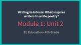 *EDITABLE* Module 1- Unit 2 EL EDUCATION Grade 4