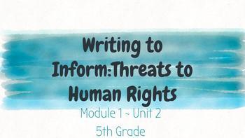*EDITABLE* Module 1- Unit 2 EL EDUCATION Grade 5