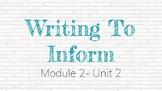 *EDITABLE* Module 2- Unit 2 EL EDUCATION Grade 4