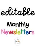 *EDITABLE* Themed Newsletter Templates