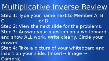 **EDITABLE** Multiplicative Inverse Group Review