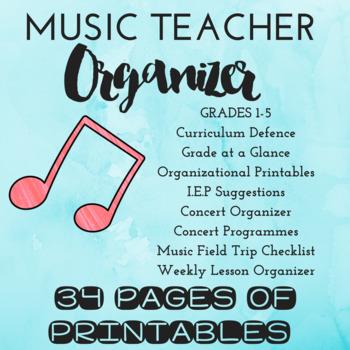 *EDITABLE* Music Teacher Organizer
