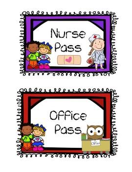 {EDITABLE} NO PREP Awesome Classroom Hall Passes