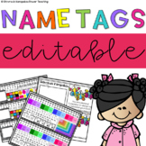 *EDITABLE* Name Tags/Name Plates for Desks + Mini Name Tags