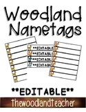 **EDITABLE** Name Tags-Woodland Theme