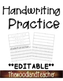 **EDITABLE** Name Tracing practice pages