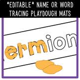 *EDITABLE* Name or Word Tracing Playdough Mats