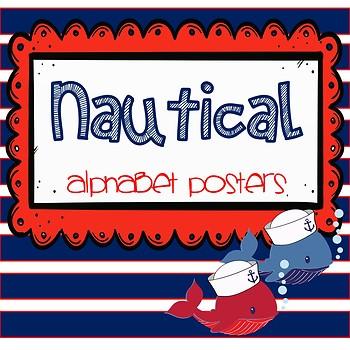 *EDITABLE* Nautical Alphabet Posters