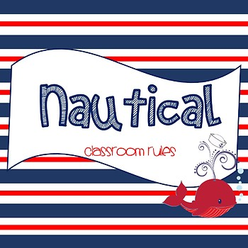 *EDITABLE* Nautical Classroom Rules Posters