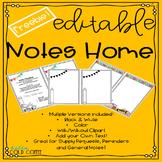 *EDITABLE* Note Home ~FREEBIE~
