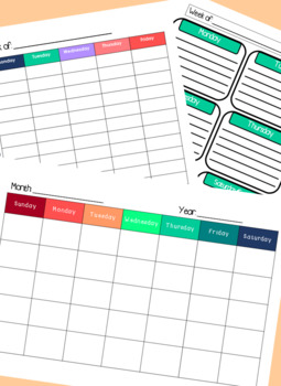 **EDITABLE** Organizing & Planning forms for SLPs