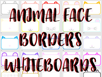 *EDITABLE PPT* 156 PAGES * Detailed Animal Borders/Activity Mats! V1