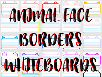 *EDITABLE PPT* 156 PAGES * Lined Animal Borders/Activity Mats! V1