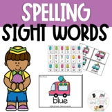 *EDITABLE!* Popsicle Sight Word Spelling Task Cards Review Game