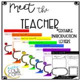 *EDITABLE* RAINBOW Meet the Teacher Letters of Introduction