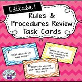 *EDITABLE* Rule & Procedures Task Cards/Room Scoot