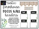 *EDITABLE* Rustic Farmhouse Focus Wall Headers