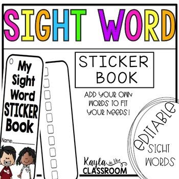 [EDITABLE] Sight Word Book