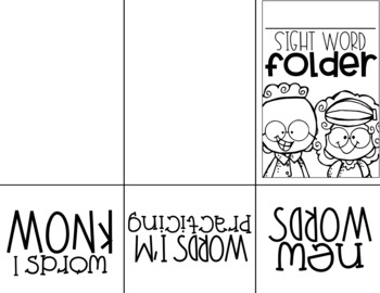 *EDITABLE* Sight Word Folder System for Practicing and Assessing Sight Words
