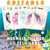 {EDITABLE} [PPT] Pre-Primer Dolch Sight Words Mermaid Go Fish Card Game