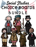 **EDITABLE** Social Studies Choice Boards BUNDLE