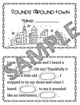 *EDITABLE* Sounds Around Town Lesson + Printables