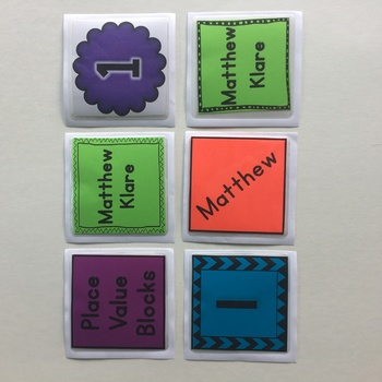 *EDITABLE* Square Pocket Label Cards