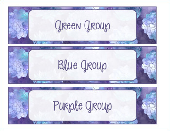 {EDITABLE} Sterillite Labels- Four Watercolor Patterns