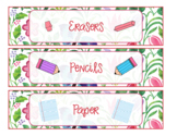 {EDITABLE} Sterillite Labels- Four Watercolor Patterns