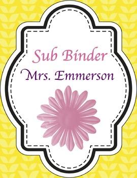 {EDITABLE} Sub Binder
