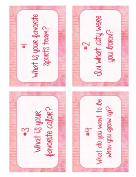 {EDITABLE} Task Cards for Beginning of the Year