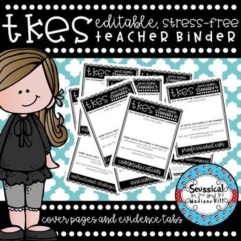 *EDITABLE* Teacher Keys Effectiveness System (TKES) Cover Pages/ Evidence Tabs