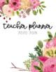 {EDITABLE} Teacher Planner 2018-2019 [FLORAL]