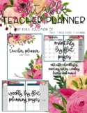 {EDITABLE} Teacher Planner 2019-2020 [FLORAL]