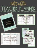 {EDITABLE} Teacher Planner 2018-2019 [Gold Foil]