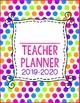 {EDITABLE} Teacher Planner 2017-2018 [Neon Polka Dot]