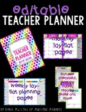{EDITABLE} Teacher Planner 2019-2020 [Neon Polka Dot]