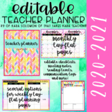 {EDITABLE} Teacher Planner 2019-2020 [WATERCOLOR]