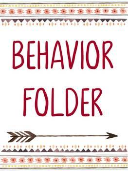 *EDITABLE* Tribal Binder Labels