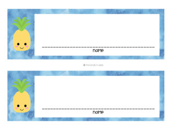 *EDITABLE* Tropical Pineapple Decor Mini Pack!