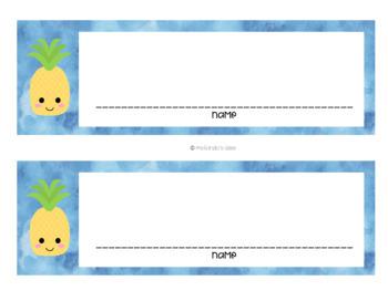 *EDITABLE* Tropical Pineapple Decor Mini Pack!