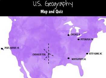 Editable Us Geography Map Quiz By Teach In The Peach Tpt - Us-geography-map-quiz