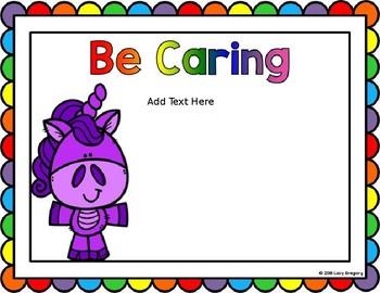 *EDITABLE* Unicorn Themed Classroom Rules Posters